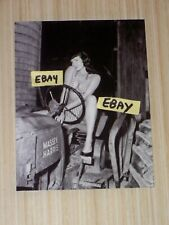 4X5 Vintage Bettie Page Photo Betty In A Bikini On A Massey Harris Farm Tractor