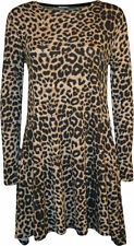 Animal Print Viscose Casual Dresses for Women