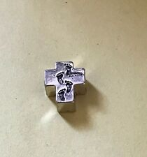 40 x Antique Silver Ornate Flower Cross Spacer Beads SP23