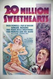 Twenty Million Sweethearts - 1934 Dick Powell Ginger Rogers Pre-Code Comedy DVD