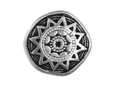 6 Sun Star 9/16 inch ( 14 mm ) Metal Shank Buttons Antique Silver Color