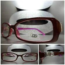Men's or Women CONTEMPORARY MODERN DG Eyewear EYE GLASSES Maroon & Purple Frame