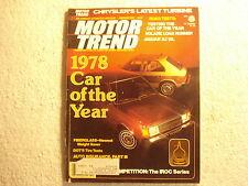 Motor Trend 1978 February Jaguar XJ 12L Dodge Plymouth Porsche 924 Barlow Simca
