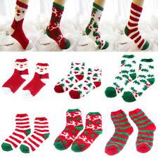 Cartoon Socks Home Coral Velvet Female Christmas Xmas Women Floor Bed Socks Nice