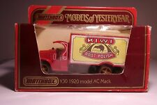 Matchbox Models of Yesteryear Y30 1920 model AC Mack Kiwi Boot Polish BNIB