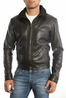 ★Giacca Giubbotto Uomo in di PELLE 100%★ Men Leather Jacket Veste Homme Cuir 5s1