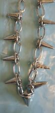 "Silver Spike Necklace 16"" Fashion"