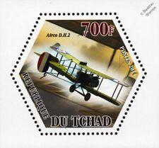 WWI RFC/RAF De Havilland Airco DH.2 Pusher Biplane Fighter Aircraft Stamp