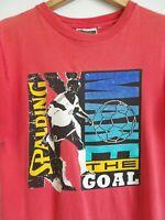 Vtg 90s Spalding MAKE THE GOAL Soccer Retro Faded Surf Skate Vaporwave T Shirt M
