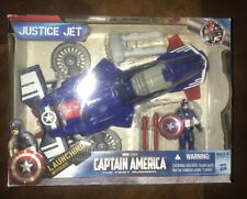 "CAPTAIN AMERICA HASBRO 3.75"" FIRST AVENGER MOVIE JUSTICE JET ACTION FIGURE BOX"