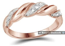 diamond .05 carat rose gold 14K ring love weave promise birthday anniversary