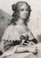 Madame de Staal Delauney Baronne estampe gravure sur acier XIXe France
