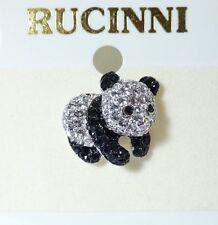 Panda Pin/Brooch RUCINNI with Swarovski Crystals.