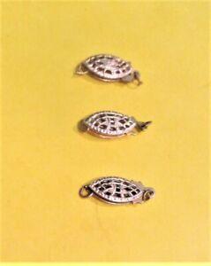 Lot of three (3) 14 Karat Gold Filled Fill Filigree Fishhook Fish Hook Clasps