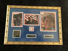 RONALD REAGAN- Vintage Authentic DNA Hair Sample of 40th US Pres. Museum Framed!