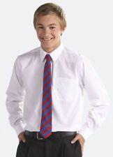 Camisas de niño de 2 a 16 años manga larga en blanco