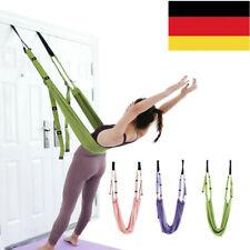 Yoga Hängematte Trapezschaukel Set Yoga Schaukel Stretching Strap Antigravity DE