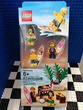 Lego Surfer Pack Hawaii Hula Girl Parrot BBQ Grill Minifigures 8804 8684 8803