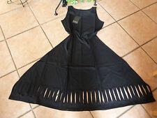 BORIS INDUSTRIES Kleid Cut Outs 40 42 (S/M) NEU! schwarz Stretch LAGENLOOK