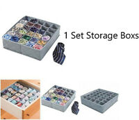 30 Cells Bamboo Charcoal Underwear Ties Sock Drawer Closet Organizer Storage Box