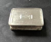 Rectangular Solid Silver Vinaigrette  Birmingham 1835