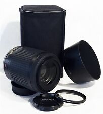 MINT Nikon AF-S DX NIKKOR 55-200mm f/4-5.6G IF ED VR lens w/ Nikon soft pouch
