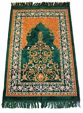 Prayer Rug Carpet Islamic Muslim Salah Meditation Mat Turkish Portable Green