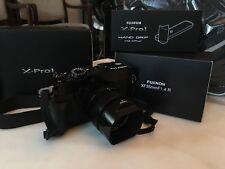 FUJI FUJIFILM X-Pro1-near mint- 16.3 MP w/ Fujinon x35mmF1.4 R lens/hand grip