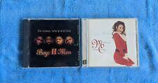BOYZ II MEN / MARIAH CAREY 2 CD Lot Pop R&B Christmas Music