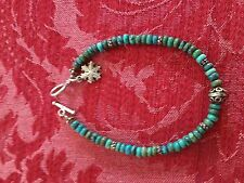 turquoise snowflake pendant bracelet - JR marking