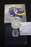 ITALIA 2007 moneta da 10 EURO ARGENTO TRATTATI DI ROMA FS  PROOF PP BE