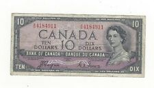 **1954 Devil's Face**Canada $10 Note, Coyne/Towers BC-32a, Ser# AD 4184911