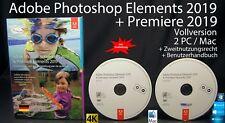 Adobe Photoshop Elements 2019 + Premiere 2019 Vollversion Box + DVD Win/Mac NEU