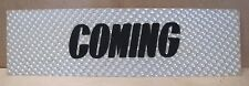 1960s/70s COMING Movie Theater HOLOGRAPHIC Advertising Sign mv3