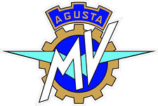 "#k126 (1) 4"" MV Agusta MVAgusta Vintage Racing Logo Decal Sticker LAMINATED"