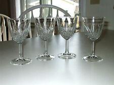 J.G.Durand Blown Crystal Stemware 4 pc set 6-1/2 oz. Wine Glasses-France #fr463
