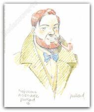 Ex-libris Juillard Blake Et Mortimer Portrait signé 13x15,7 cm