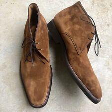 Men's Suede Chukka Boots Handmade Italian Faite A Mano In Italie Euro Size 45