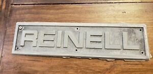 Reinell Emblem Boat Marine Sign Tractor Fishing Display