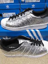 Hommes Adidas Superstar Argent Cuir Baskets Style Décontracté Aq4701 UK 9 / EUR 43 1/3