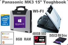 "Panasonic CF-52 15.4"" WIN10 Toughbook✔️MK3✔️i5_New 480 SSD/8GB✔️Office 2016 PRO✔"