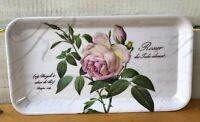 """Rosier Des Indes Pink Roses Melmac 6 1/2"""" x 12"""" Serving Tray Melamine Langlow"""