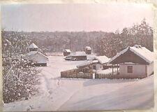 Sibiu, Winter, Folk Museum, Romania postcard