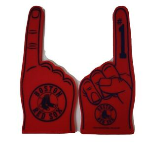 "Big MLB Boston Red Sox REDSOX  Finger  # 1 FAN  both sides printed foam 20"""
