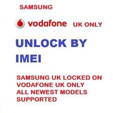 Vodafone UK Unlock Code Samsung Galaxy S6 S7 S8 S9 A3 A5 A6 A8 J5 J3 Edge Note