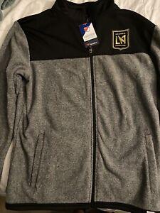 LAFC Fanatics Fleece Full-Zip Track Jacket - Black/Gray XL