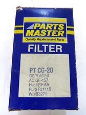 PARTS MASTER, FUEL FILTER, PT CG-20