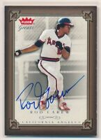 ROD CAREW 2004 Fleer Greats #57 ON-CARD AUTO AUTOGRAPH ANGELS HALL OF FAME HOF
