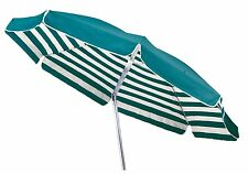 Maffei ombrellone palo centrale Venezia Art.181A verde/riga cotone d.200 cm