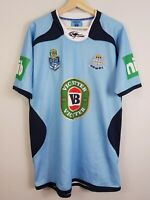 NSW BLUES Mens Size XXL State of Origin 2013 Rugby League Jersey